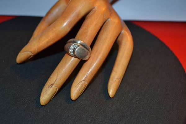 Δαχτυλίδι vintage ασημένιο μέ ζιργκόν