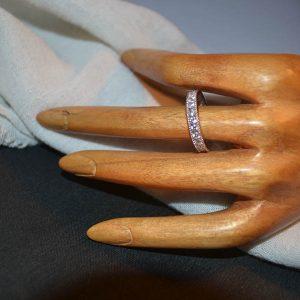 Δαχτυλίδι ασημένιο - βέρα- μέ ζιργκόν ολόκληρη