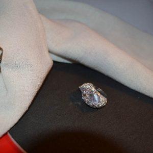 Δαχτυλίδι ασημένιο μέ ζιργκόν