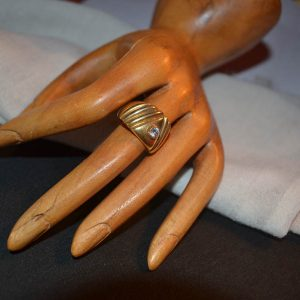 Δαχτυλίδι vintage ασημένιο-επιχρυσωμένο μέ ζιργκόν