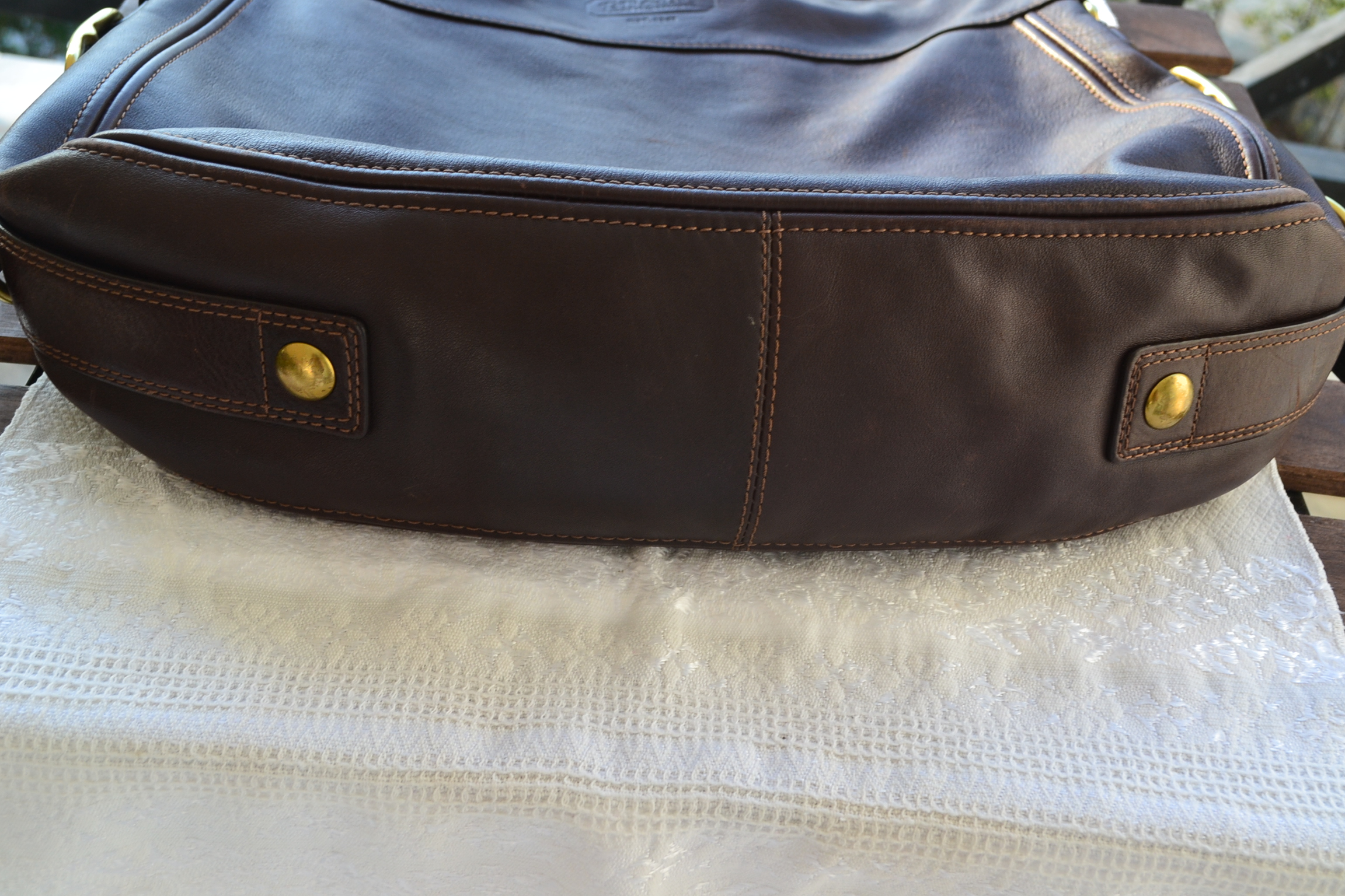 43c10c02f4 Τσάντα δερμάτινη αυθεντική COACH σέ καφέ χρώμα vintage - Vintage ...
